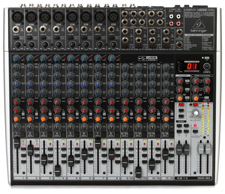 Behringer Xenyx X2222USB Mixer and USB Audio Interface with Effects image 1