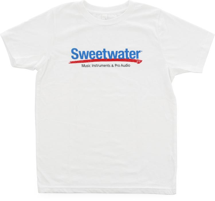 Sweetwater Logo T-shirt - White, Youth Small image 1