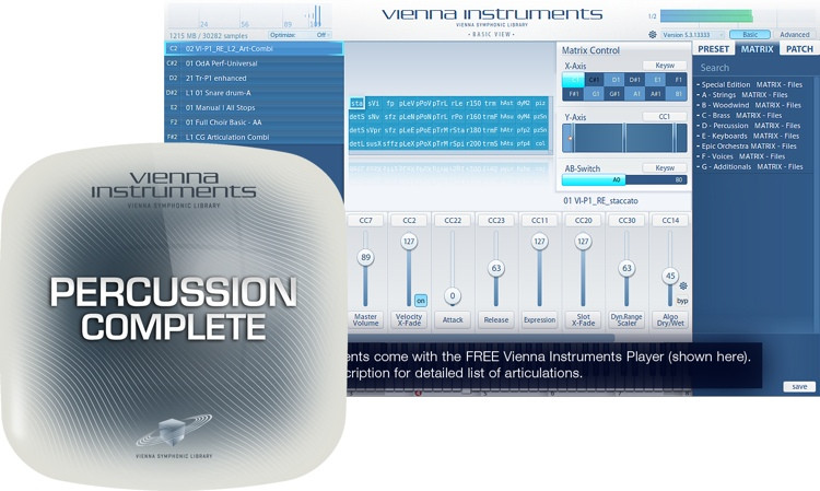 Vienna Symphonic Library Percussion Complete - Standard Library image 1