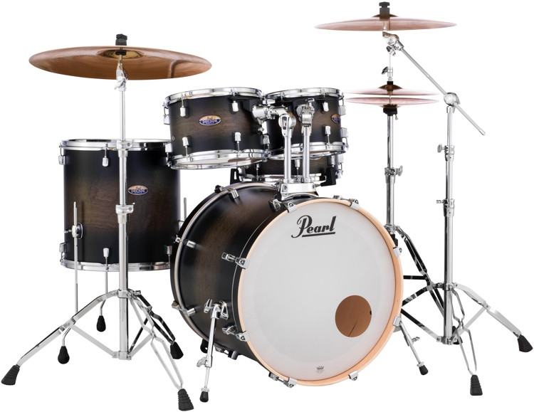 Pearl Decade Maple Shell Pack - 5pc - Satin Blackburst image 1