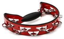 Rhythm Tech Pro Series Tambourine - Red/Black with Nickel Jingles