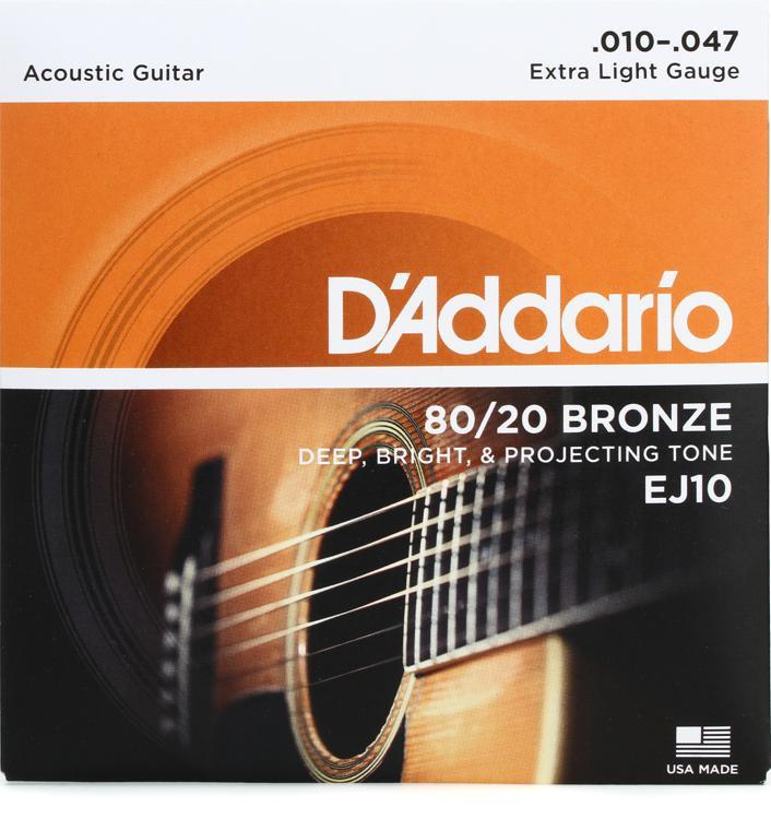 D\'Addario EJ10 80/20 Bronze Extra Light Acoustic Strings image 1