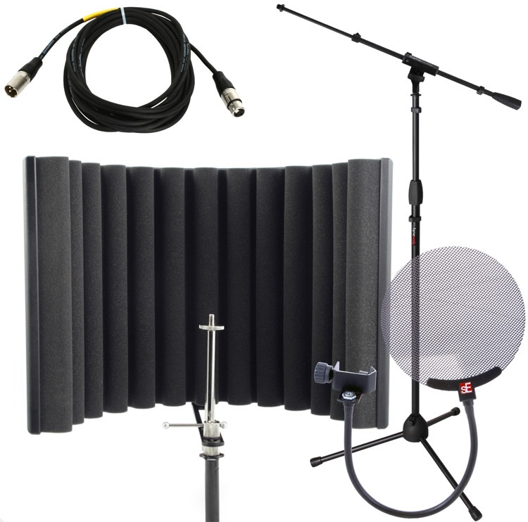 sE Electronics ReflexionX Studio Package - w/Stand, Cable, and Pop Filter image 1