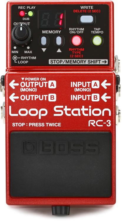 boss rc 3 loop station compact phrase recorder pedal sweetwater. Black Bedroom Furniture Sets. Home Design Ideas