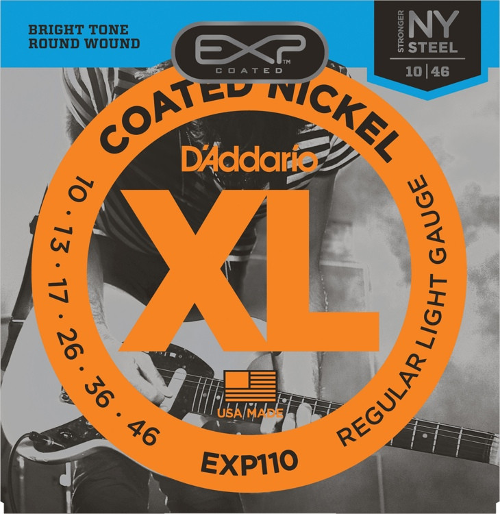 D\'Addario EXP110 Coated Nickel Plated Steel Light Electric Strings image 1