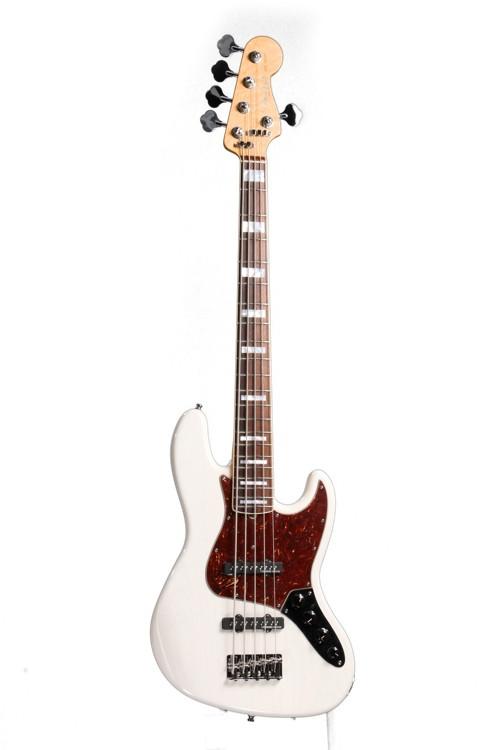 fender custom shop custom classic jazz bass v special white blonde sweetwater. Black Bedroom Furniture Sets. Home Design Ideas