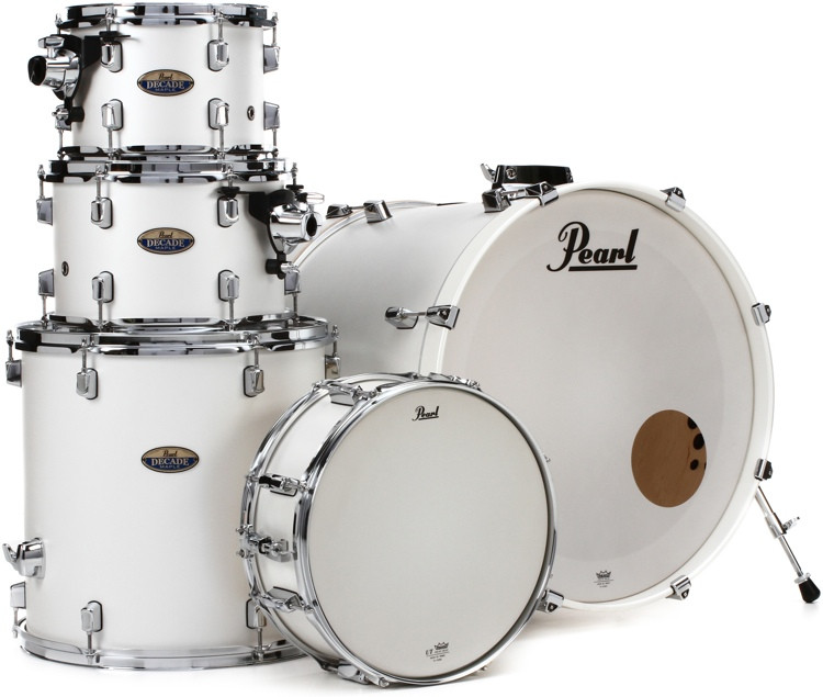Pearl Decade Maple Shell Pack - 5pc - White Satin Pearl image 1