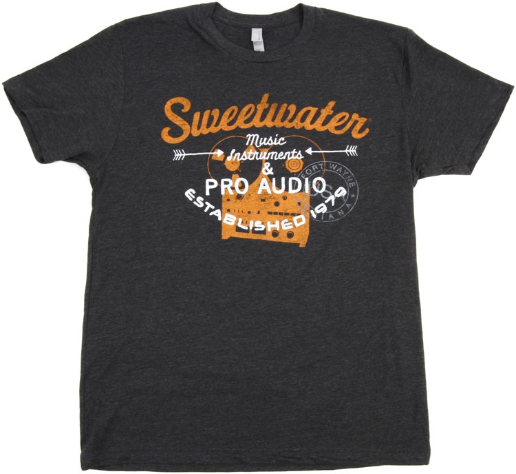 Sweetwater Charcoal Reel-to-reel T-shirt - Men\'s Fitted Medium image 1