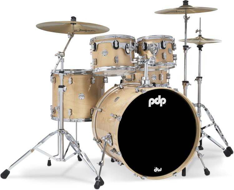 PDP Concept Maple Shell Pack - 5-piece - Natural Lacquer image 1