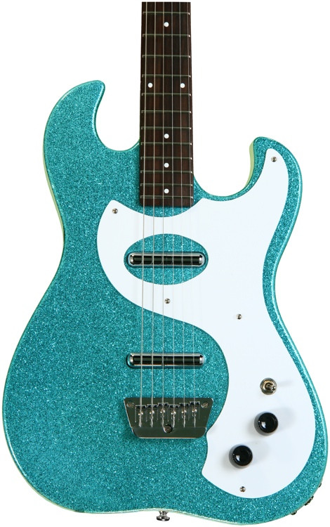danelectro 39 63 turquoise metal flake sweetwater. Black Bedroom Furniture Sets. Home Design Ideas