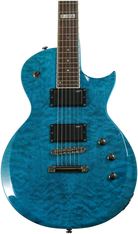 esp ltd ec 200qm see thru blue sweetwater. Black Bedroom Furniture Sets. Home Design Ideas