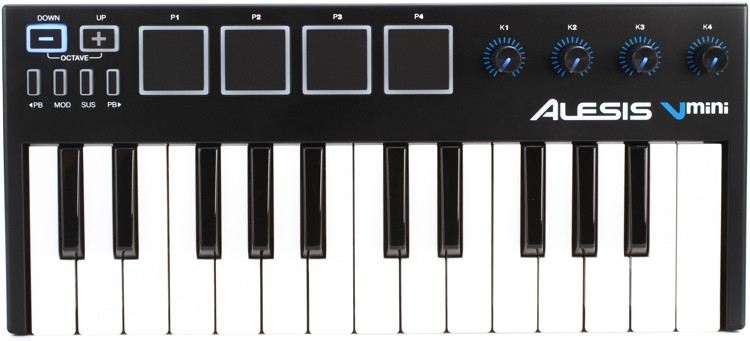 alesis vmini 25 key usb controller sweetwater. Black Bedroom Furniture Sets. Home Design Ideas