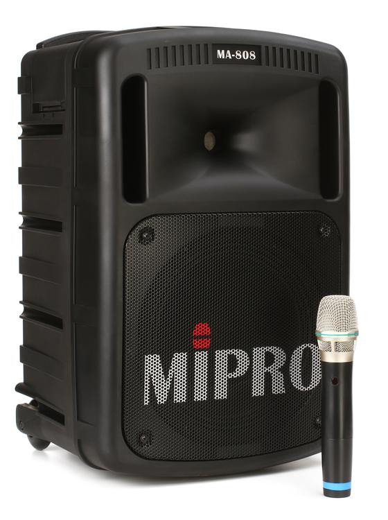 MIPRO MA-808 - Portable PA with CD Player, Wireless Mic, and Bluetooth image 1