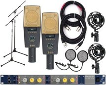 AKG C414XLII Pair with Focusrite IsaTwo Mic Pre