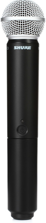 shure blx2 sm58 handheld wireless transmitter h10 band sweetwater. Black Bedroom Furniture Sets. Home Design Ideas