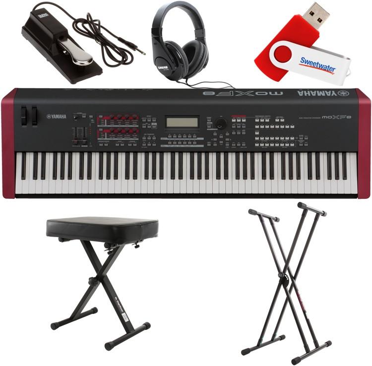 Yamaha moxf8 88 key essential keyboard bundle sweetwater for Yamaha moxf8 88