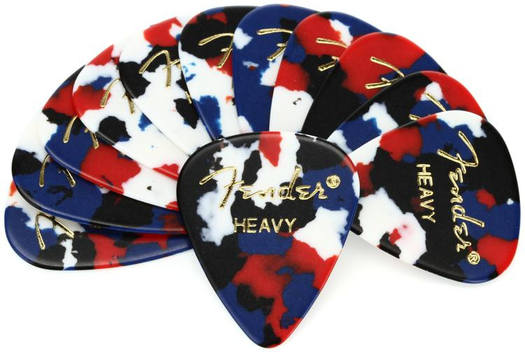 Fender 351 Shape Classic Celluloid Picks - Heavy Confetti - 12-Pack image 1