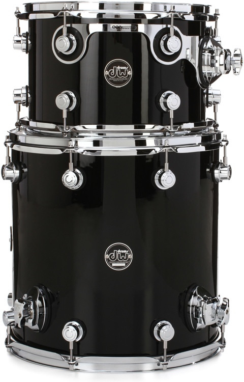 DW Performance Series 2-piece Bop Tom Pack - Gloss Black Finish Ply image 1