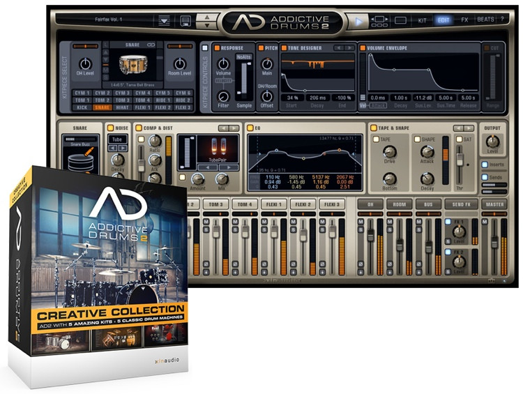 xln audio addictive drums 2 creative collection sweetwater. Black Bedroom Furniture Sets. Home Design Ideas