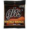 GHS VN-M Vintage Bronze 85/15 Medium Acoustic Guitar Strings