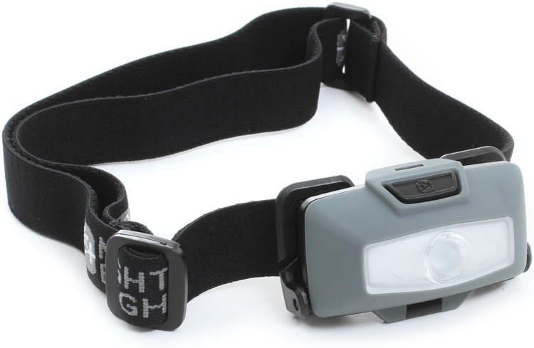 Mighty Bright Gearhead - Single LED Headlamp, Gray image 1