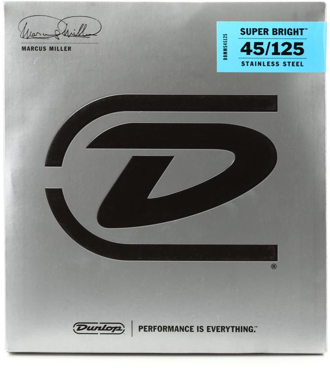 Dunlop DBMMS45125 Marcus Miller Super Bright Bass Strings - 5 String Set image 1