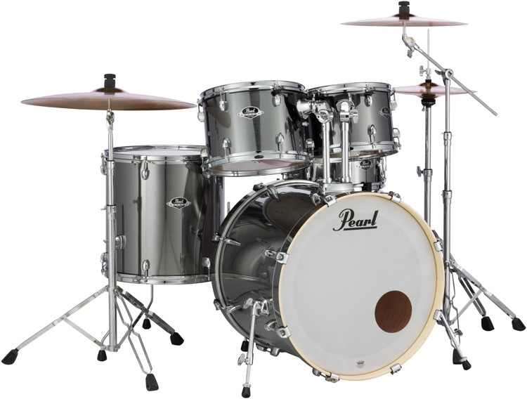 Pearl Export EXX 5-piece Drum Set with Hardware - Fusion Configuration - Smokey Chrome image 1