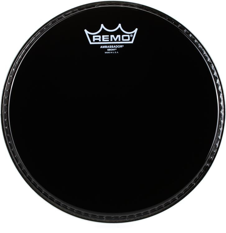 Remo Ebony Ambassador Drum Head - 10