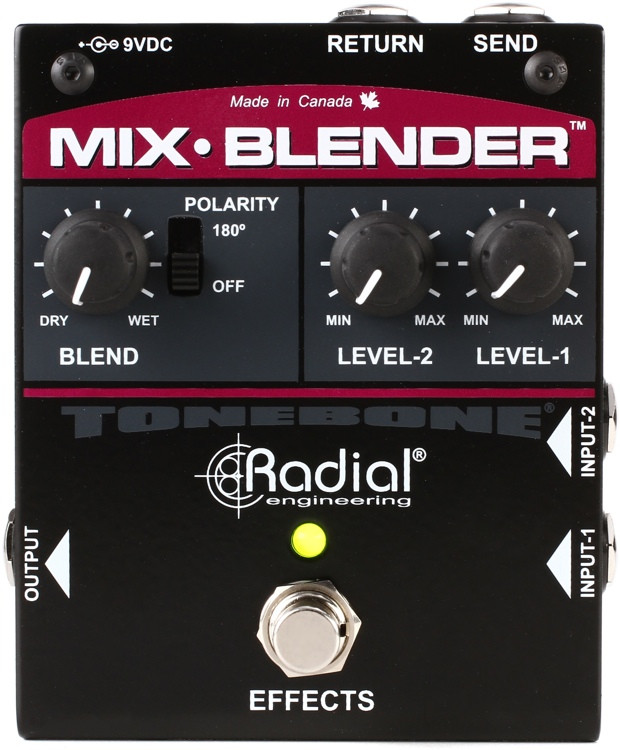 Radial Mix-Blender Dual Instrument Buffer, Mixer, and FX Loop Interface image 1