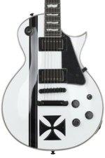 ESP LTD James Hetfield Iron Cross SW - Snow White/Graphic