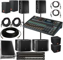 JBL SRX800 Complete PA Package with Soundcraft Mixer and Stage Box