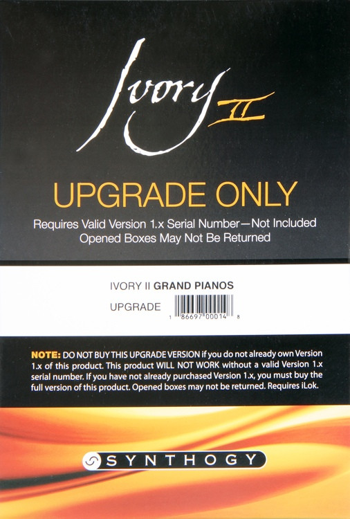 Synthogy Ivory II Grand Pianos Upgrade from Version 1.x (boxed) image 1