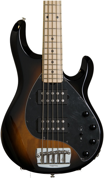 ernie ball music man stingray 5 hh tobacco sunburst sweetwater. Black Bedroom Furniture Sets. Home Design Ideas