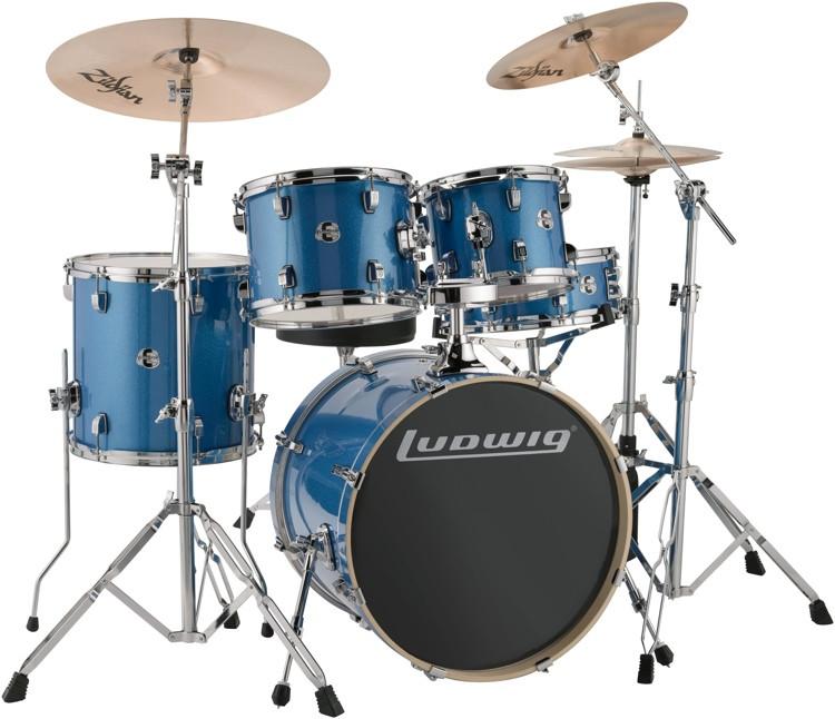 Ludwig Element Evolution 5-piece Drum Set with Zildjian ZBT Cymbals - 20