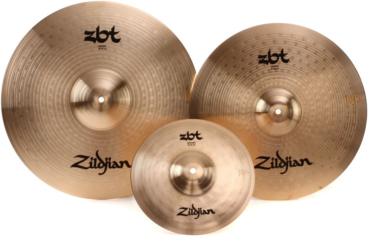 zildjian zbt crash cymbal set 16 18 crashes with free 10 splash sweetwater. Black Bedroom Furniture Sets. Home Design Ideas