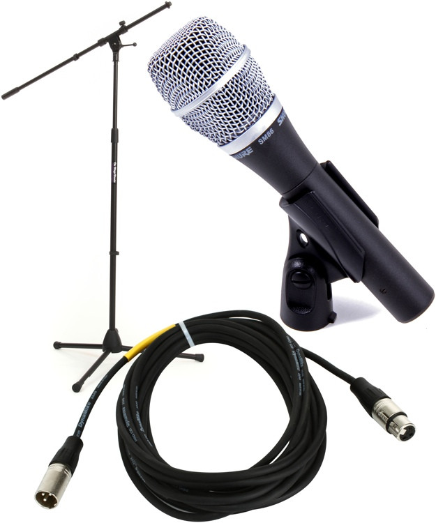 Shure SM86 Handheld Microphone with Stand and Cable image 1