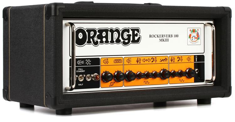 Orange Rockerverb 100 MKIII - 100-watt 2-channel Tube Head - Black image 1