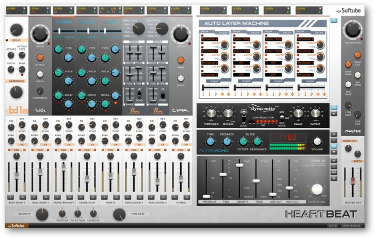 Softube Heartbeat Drum Synth Plug-in image 1