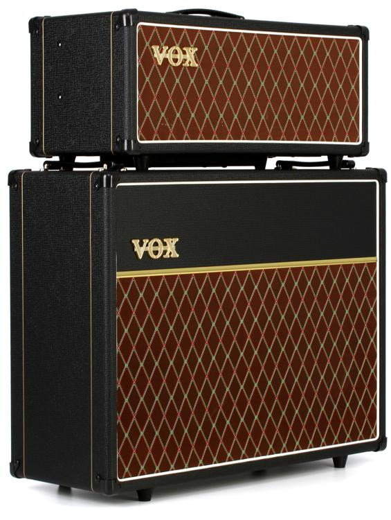 vox ac15 stack 15 watt tube head with matching 2x12 cabinet sweetwater. Black Bedroom Furniture Sets. Home Design Ideas