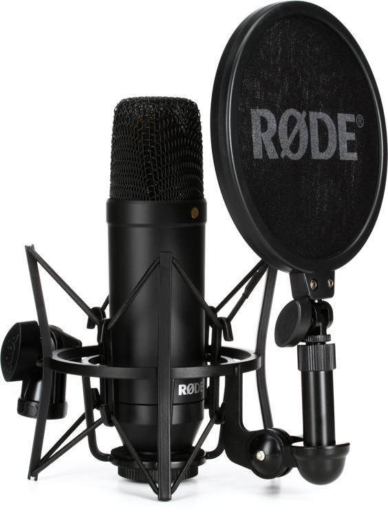 rode nt1 kit condenser microphone with smr shock mount and pop filter sweetwater. Black Bedroom Furniture Sets. Home Design Ideas