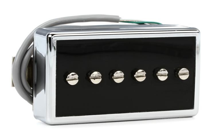 Gibson Accessories P-94T Humbucker-Sized P-90 Pickup - Black and Silver, Bridge, 2-Conductor image 1