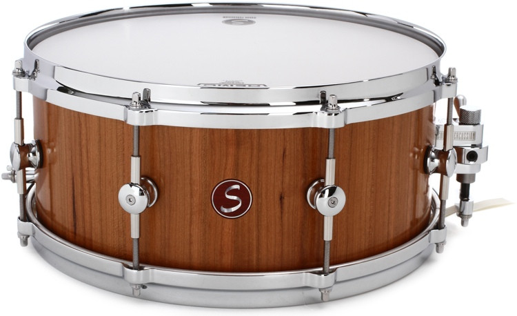 sugar percussion solid stave snare drum 6 x 14 eastern black cherry sweetwater. Black Bedroom Furniture Sets. Home Design Ideas