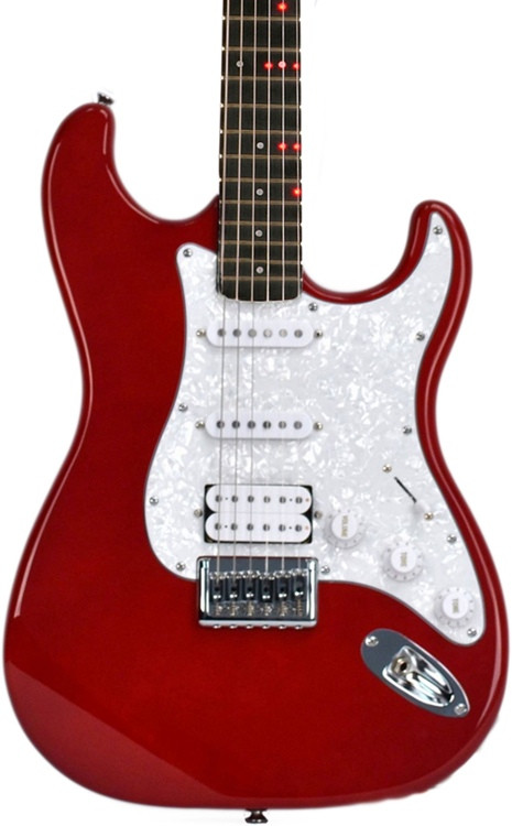 fretlight fg 621 wireless electric guitar learning system red sweetwater. Black Bedroom Furniture Sets. Home Design Ideas
