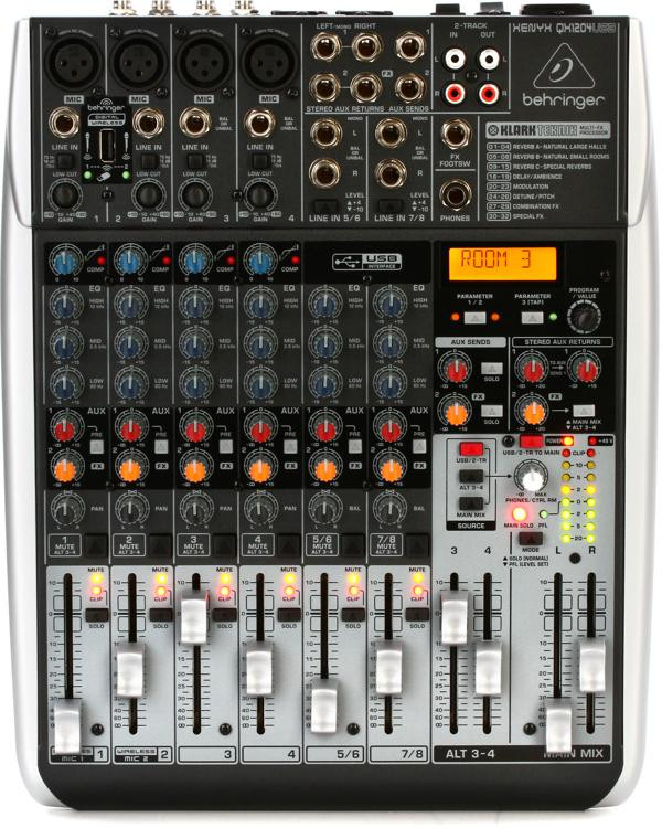 Behringer Xenyx QX1204USB Mixer and USB Audio Interface with Effects image 1