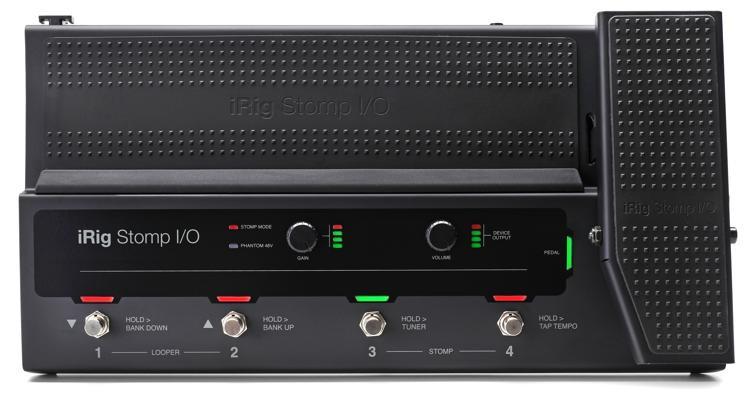 iRig Stomp I/O USB Pedalboard Controller / Audio Interface for iOS, Mac, PC