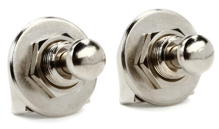 Grover GP800N Strap Lock Set - Nickel image 1