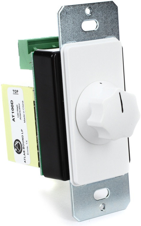 Atlas Sound AT100 Decora Volume Control - White, Single Gang image 1