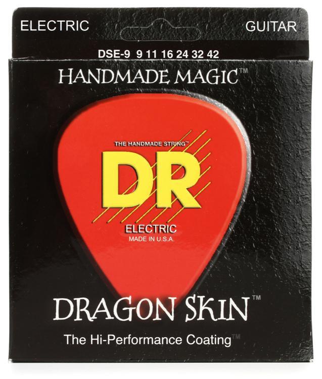 DR Strings DSE-9 Dragon Skin Lite K3 Coated Electric Guitar Strings image 1