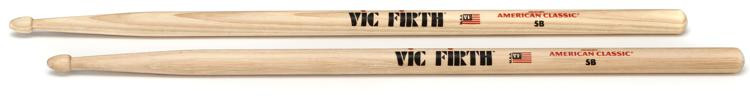 Vic Firth American Classic Drum Sticks - 5B - Wood Tip image 1