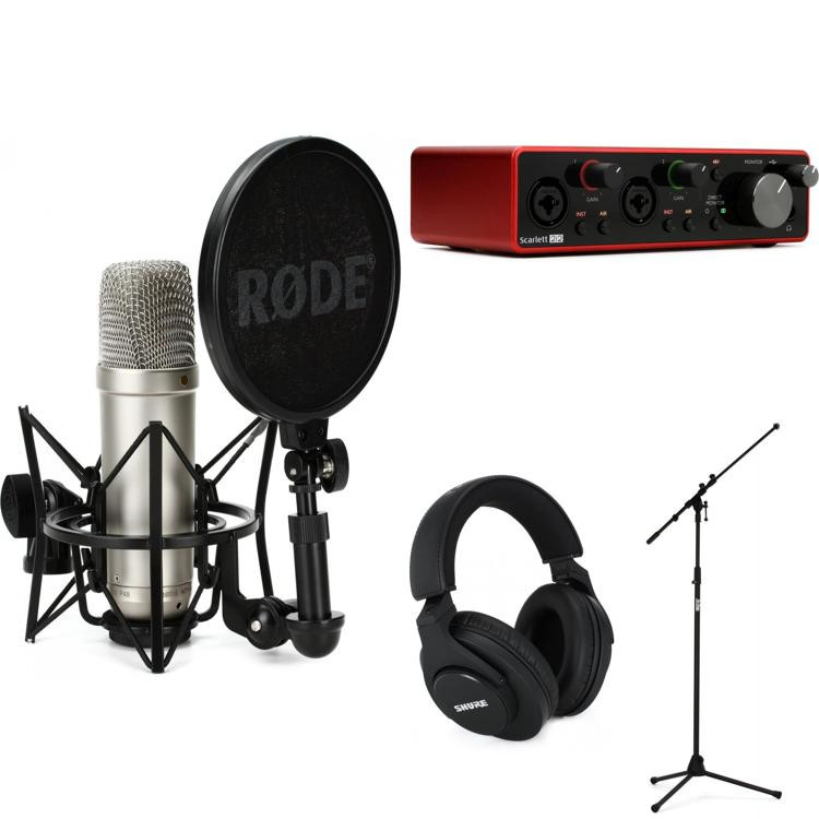 focusrite scarlett 2i2 and rode nt1a recording package sweetwater. Black Bedroom Furniture Sets. Home Design Ideas